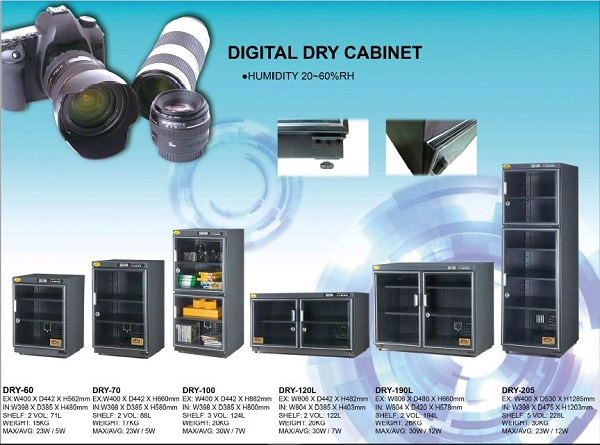 Standard Digital Dry Cabinet 20rh 60rh Haiou Saintifik Sdn Bhd